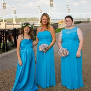 Malibu blue bridesmaids dress for sale.